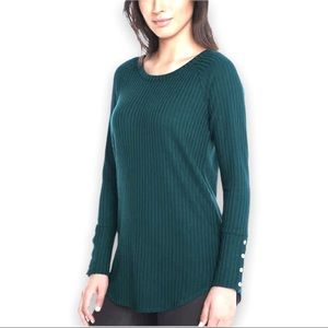 Chaser NWT Waffle Knit Thermal Henley Top